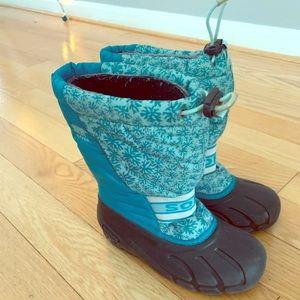 Sorel winter snow boots kids size 2